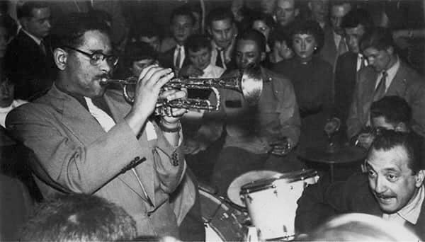 DJango Reinhardt et Dizzy Gillespie à Bruxelles, la rose noire en 1953